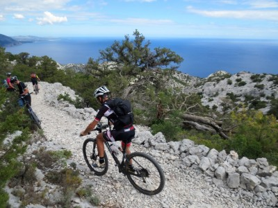 Mountain biking by the sea Alghero Sardinia