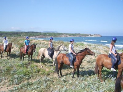 Horseback riding Alghero Sardinia Pintadera activities