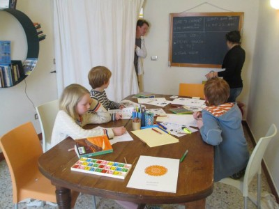 Pintadera Italian classes for children in Alghero Sardinia